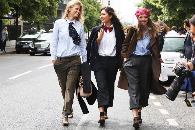 Стиль в одежде в париже