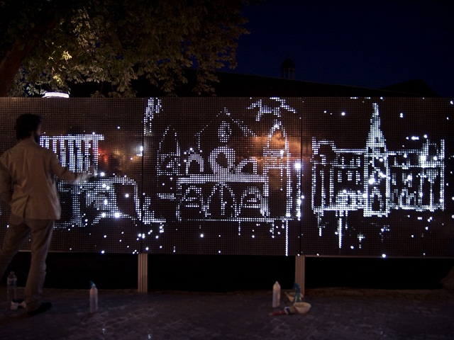 Water Light Graffiti, перфоманс Antonin Fourneau