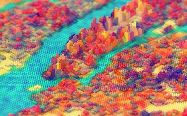 Нью-Йорк из LEGO от JR Schmidt