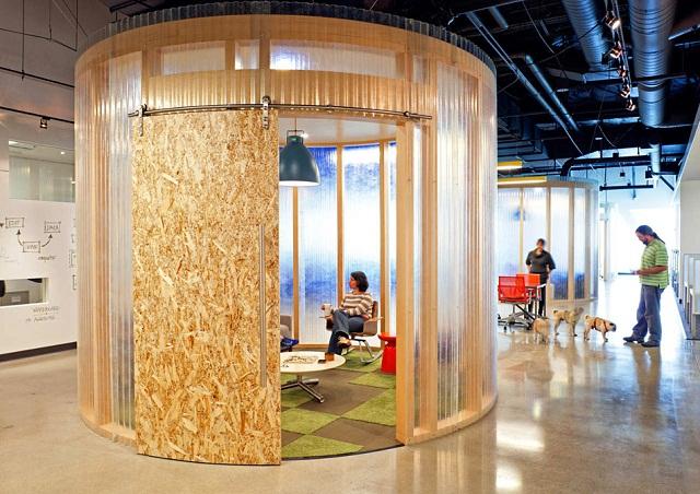 Дизайн интерьера офиса Aol от студии O+A