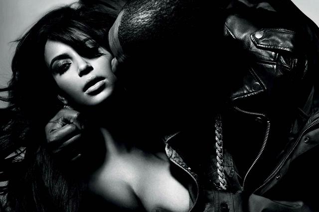 Kanye West и Kim Kardashian: страсть и нежность