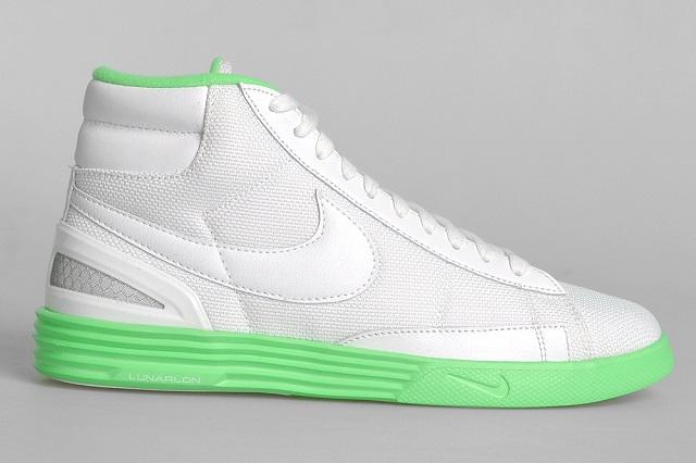 "Кеды Nike Lunar Blazer ""White/Poison Green"""