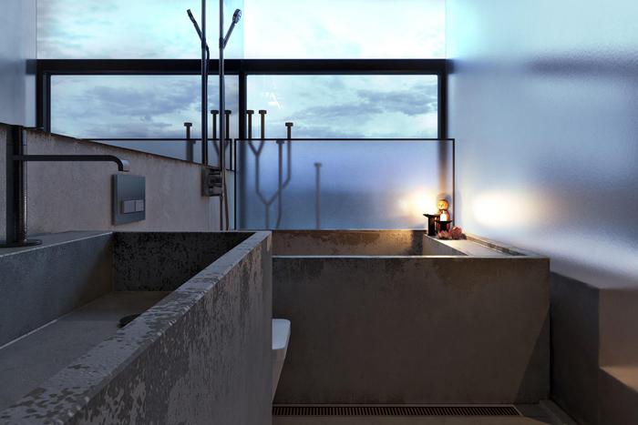 Концепт дома на крутом морском берегу «Chair house».