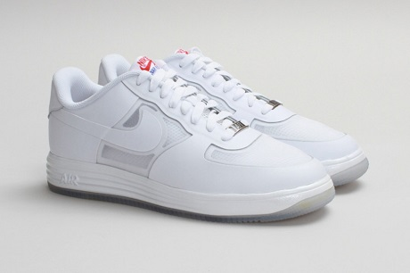 "Кроссовки Nike Lunar Force 1 Fuse LTHR ""White on White"""