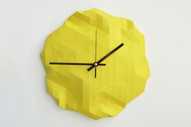 Настенные часы The PolyGlobe от Raw Dezign
