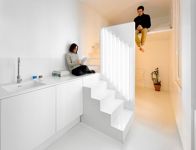 Жилая студия площадью 20 квадратов в Париже