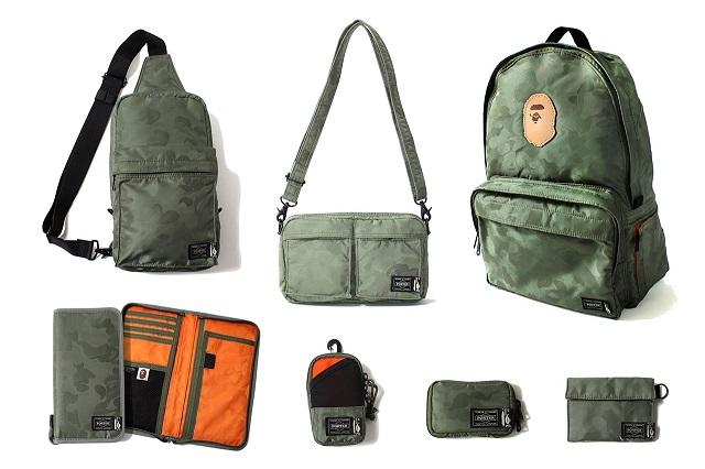 Коллекция сумок и аксессуаров A Bathing Ape x Porter 2013