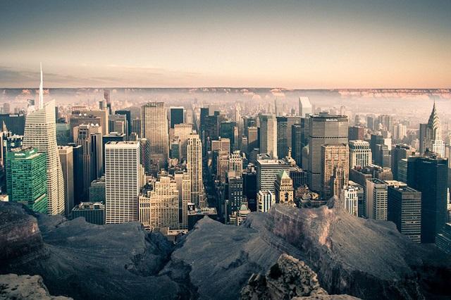 Как выглядит Манхэттен внутри каньона