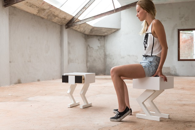 """Стул """"Krux13″ с ящиком на ножках от Boris Tellegen и Case Studyo"""