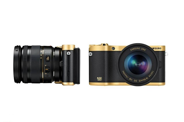 Золотой фотоаппарат Samsung Gold Plated NX300