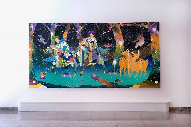 "Современная живопись Томоказу Мацуяма ""Palimpsest"" @ Harvard Reischauer Institute"