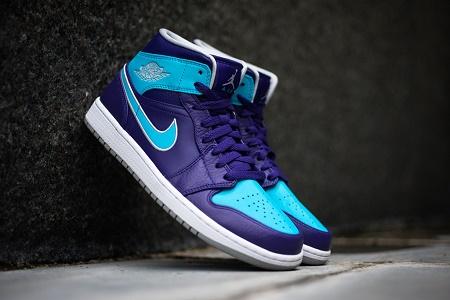 Кроссовки Air Jordan 1 Mid Purple/Gamma Blue