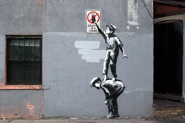 Новая работа Banksy в Нью-Йорке