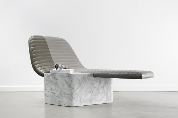 Мраморное кресло от Grégoire de Lafforest Leather & Marble Lounge