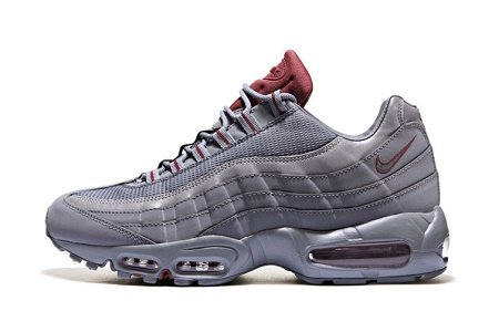 Кроссовки Nike Air Max 95 Cool Grey/Team Red JD Sports Exclusive