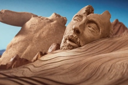 Песочный Том Йорк в новом клипе Atoms for Peace