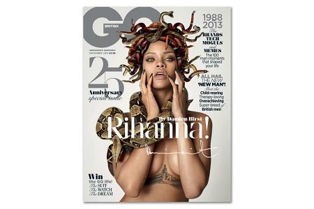 Рианна украсила обложку юбилейного выпуска журнала GQ