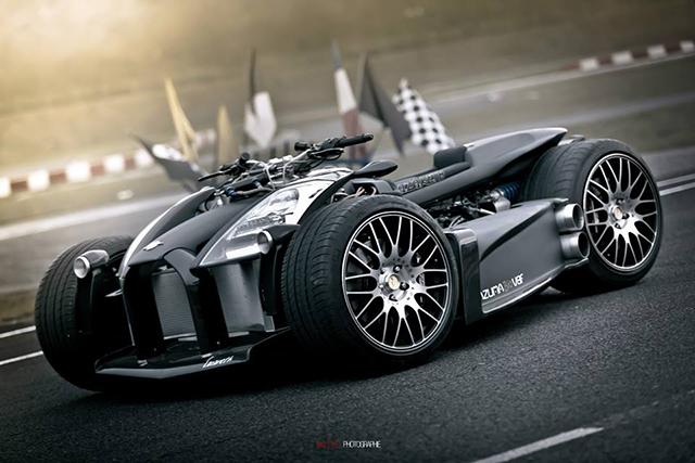 Квадроцикл Wazuma V8F M.E. с двигателем от Ferrari