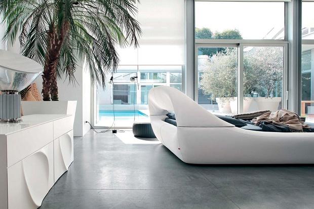 Комфортная кровать Sleepy от Angelo Tomaiuolo для Tonin Casa