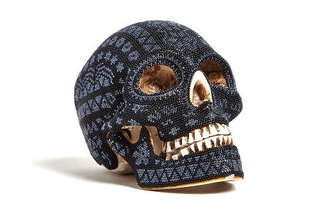Дизайнерский череп Our Exquisite Corpse Huichol Black