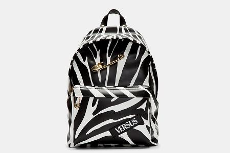 Рюкзак Versus Versace Black Zebra Print Safety Pin