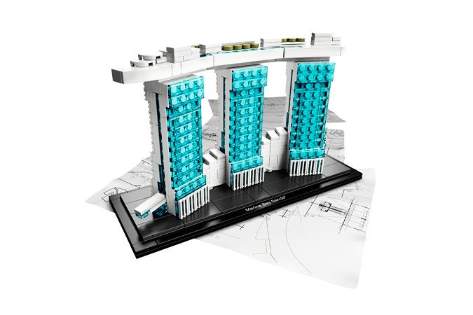 Архитектурная серия LEGO Marina Bay Sands