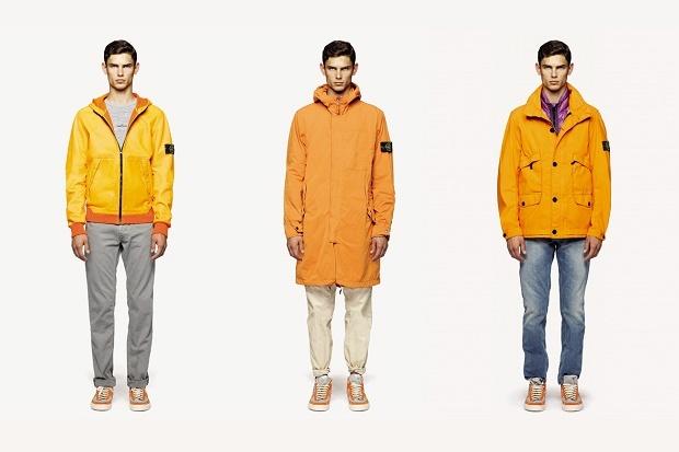 stone island куртки желтые
