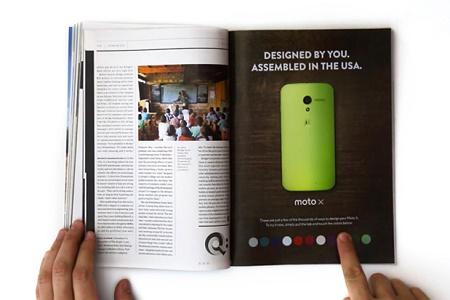 В глянцевом журнале разместили интерактивную рекламу Moto X