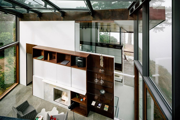 Частный дом на вершине скалы от студии Fougeron