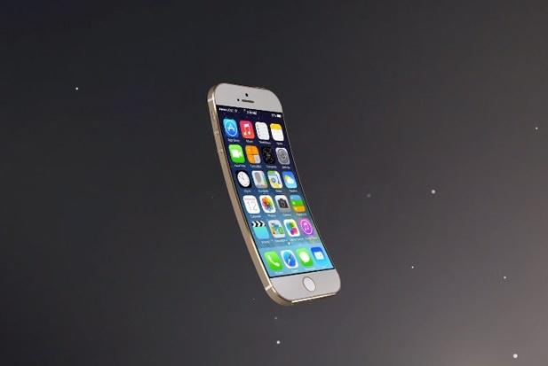 Концепт стильного изогнутого iPhone 6 c 5-дюймовым экраном
