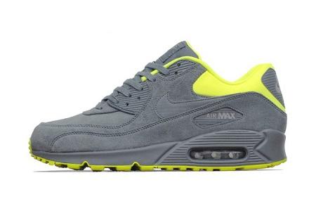 Кроссовки Nike Air Max 90 Premium Dark Grey/Volt-Medium Grey