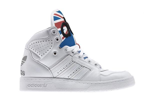 Кроссовки adidas Originals by Jeremy Scott Instinct High Union Jack White/Satellite/Light Scarlett
