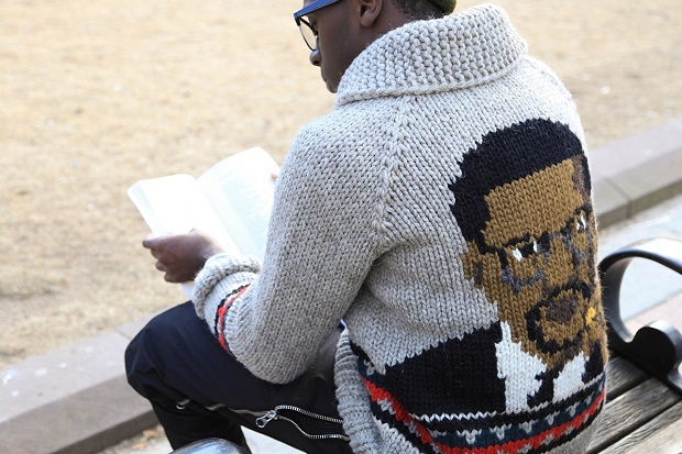 "Шерстяной свитер Bodega x Granted ""Malcolm X"""