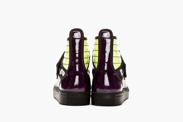 Кеды Raf Simons Purple/Green High-Top Sneaker – эксклюзив для магазина SSENSE