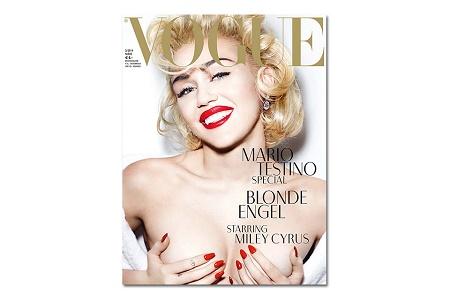 Майли Сайрус в фотосессии Марио Тестино для Vogue Germany Март 2014