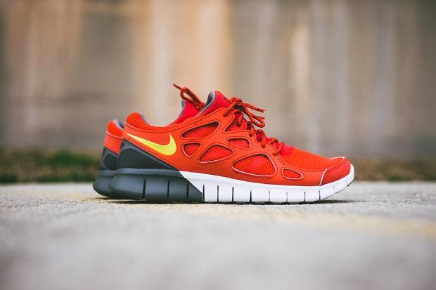 Кроссовки Nike Free Run+ 2 Light Crimson/Grey