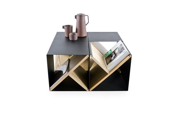 Табурет-стеллаж Steel Stool от Noon Studio