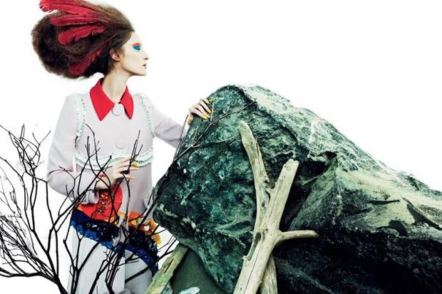 Франзи Мюллер на обложке Numéro Russia Февраль 2014
