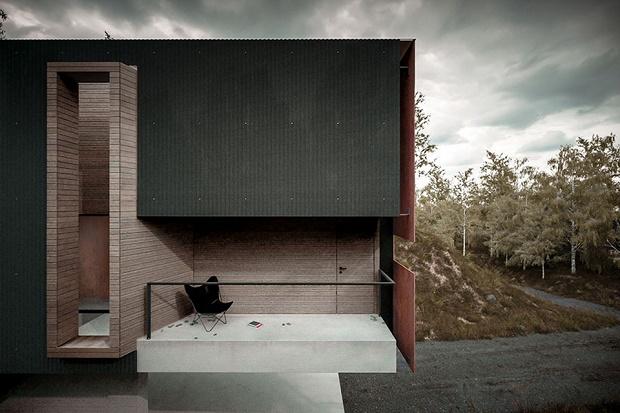 Загородный дом фотографа от Hyde Architects