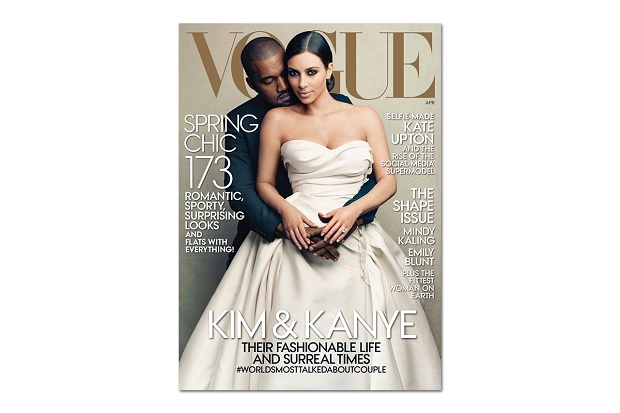 Канье Уэст и Ким Кардашьян на обложке американского Vogue