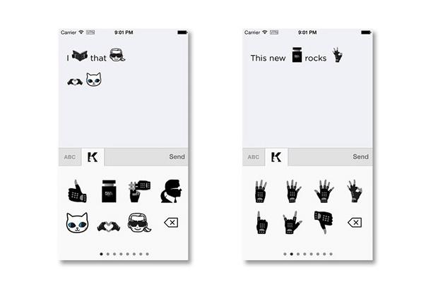 Приложение emotiKarl: новые emoji от Карла Лагерфельда