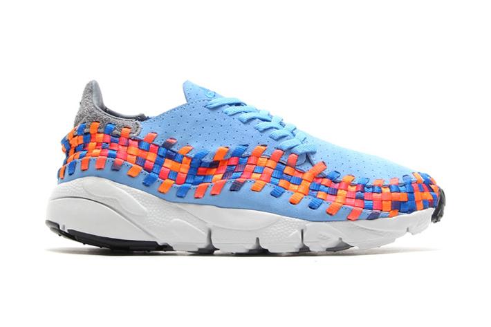 Кроссовки Nike Air Footscape Woven Motion University Blue/Prize Blue-Atomic Orange