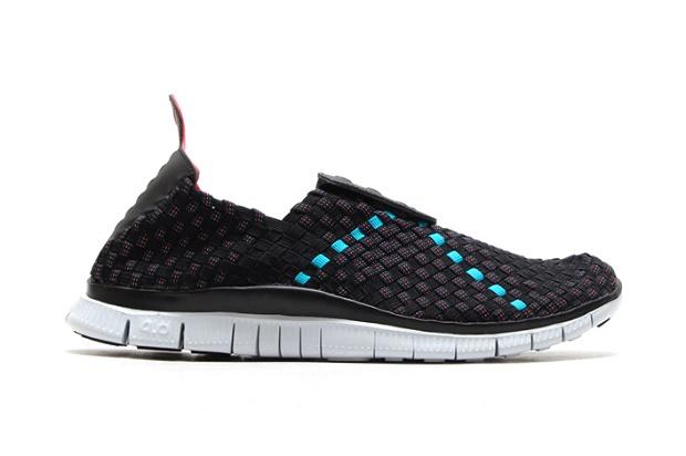 Кроссовки Nike Free Woven 4.0 Black/Light Crimson-Turbo Green-Military Blue