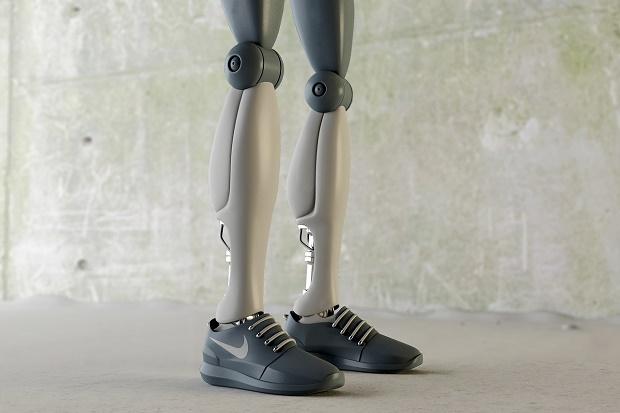 Роботы в культовых кроссовках от 3d художника Симеона Георгиева
