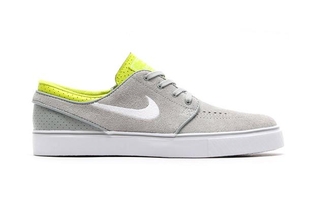 Кеды Nike SB Zoom Stefan Janoski Base Grey/White-Venom Green