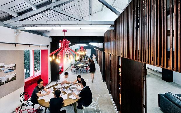 Офис архитектурного бюро Woods Bagot в Пекине