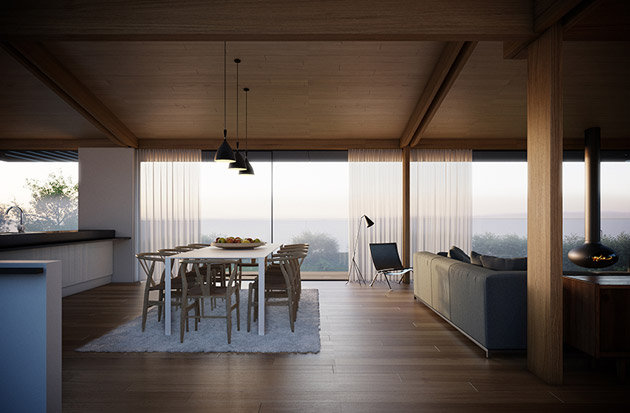 Современный двухэтажный частный дом Silver от студии Hyde & Hyde Architects