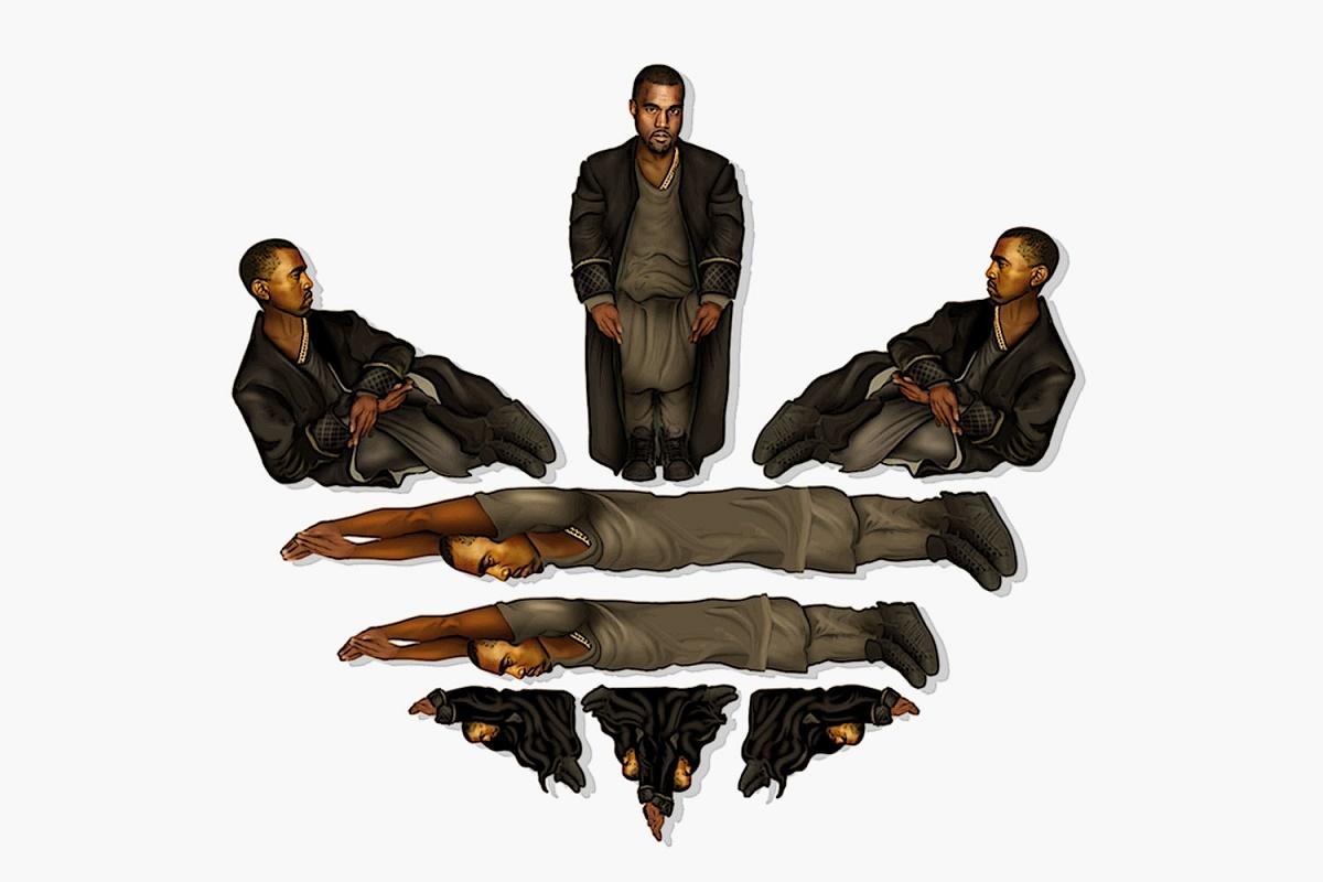 Логотип Kanye West x adidas от Майка Фредерико