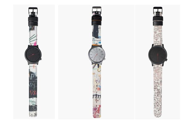 Komono выпустили часы с репродукциями Жан-Мишеля Баскии