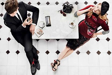 Саша Пивоварова и Джеймс Блейк в фотосессии для Vogue USA Май 2014